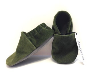 Childrens - Suede Slippers- slip on style- Travel-