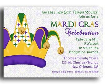 Mardi gras soiree etsy mardi gras invitation stopboris Image collections