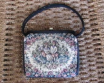 Vintage Tapestry Evening Bag