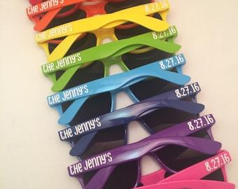 Bachelorette Sunglasses, Bachelorette Party Favors, Bachelorette Favors, Bachelorette Gift, Personalized Sunglasses, Bridesmaid Gifts
