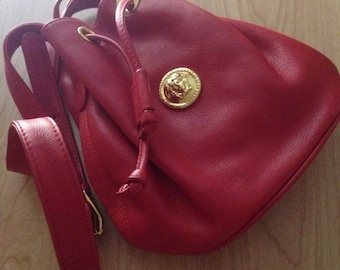 Beautiful Vintage  Red Lipstick Gianni Versace Purse New Conditions