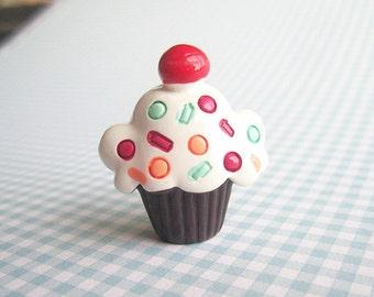Broche Cupcake au chocolat
