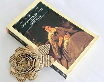 Jane Eyre Book Page Corsage, Buttonhole