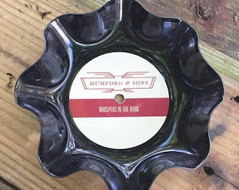 Mumford & Sons 7inch vinyl turned into a wall hanging or stylish dish