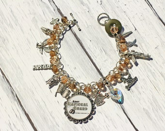United States Army National Guard Inspired Charm Bracelet