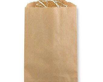 Brown Kraft Paper Plain Favor Bags
