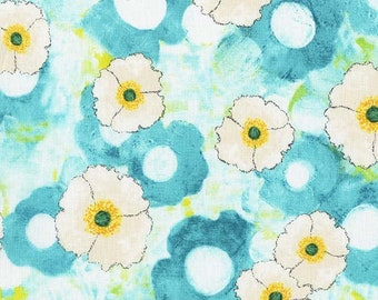 Michael Miller Spring Allover in Aqua, 100% Cotton Quilters Fabric