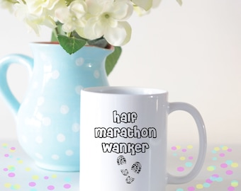 Half marathon wanker, half marathon mug, runners mug, mug for runners, gift for runners, running lovers gift, running lovers mug, 13.1 mug