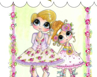 My-Besties Clear Rubber Stamp Big Eye Besties Big Head Dolls Carley Mom MYB-0006  By Sherri Baldy