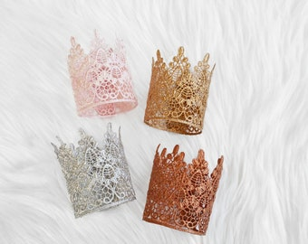 Sara mini vintage lace crown || photo prop || Princess || Birthday