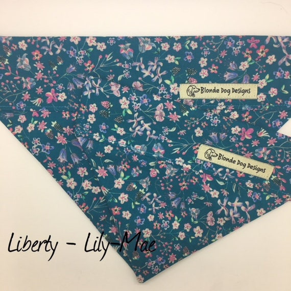 Liberty Dog Bandana, Floral Dog Bandana, Lily-Mae, Pretty Dog Bandana, Luxury Dog Bandana