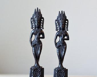 Vintage,Indian,Hindustani , Figurine ,Resin Figurine,Set of 2,Two Goddesses ,Indian Goddesses