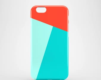 SALE / Geometric iPhone 6 case / red and mint iPhone 6 case / sale iPhone 6 case / bright iPhone 6 case / colour block iPhone 6 case