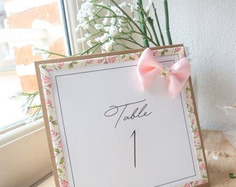 For rustic wedding table numbers