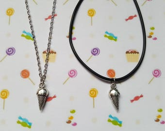 Ice cream necklace, Ice cream pendant, Pendant necklace, Ice cream, Ice cream cone, Summer jewellery, Holiday jewellery, Beach, Seaside