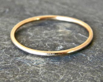 Minimalist Engagement Ring - 14k Solid Gold Ring - Simple Wedding Ring - Gold Ring - Minimalist Ring - Thin Gold Ring - Wedding Band