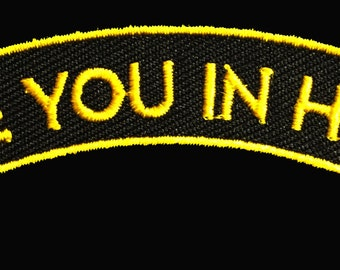 """Ramon Maiden """"See you in Hell"""" embroidered patch"""
