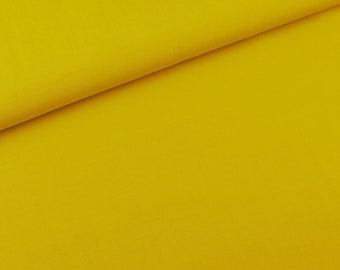 Viscous fabric light mustard yellow uni (8.90 EUR/meter)