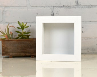 Handmade Small Square Shadow Box Frame - Holds up to 4.5 x 4.5 x 1.25 inches Deep - In Finish COLOR of YOUR CHOICE - Small Shadow Box Frame