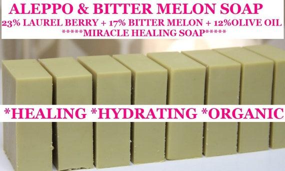 Aleppo & Bitter Melon Soap    Skin Problem Solver  Soap   Laurel Berry Soap   ORGANIC Soap   Hydration Hero  Skin Problem Solver!!!