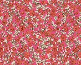 Pink Floral Fabric, Riley Blake Ivy Mae C6123 Pink, Easter Fabric, Spring & Summer Quilt Fabric, Girls Dress Fabric, Cotton