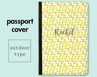 Personalized Passport Holder - Yellow Meadow - Mothers Day Gift - Travel Gifts - Passport Holders - Gifts for Mom - Gift for Mum - PC017