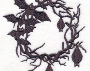 Bats in the Belfry Embroidered Flour Sack Hand/Dish Towel