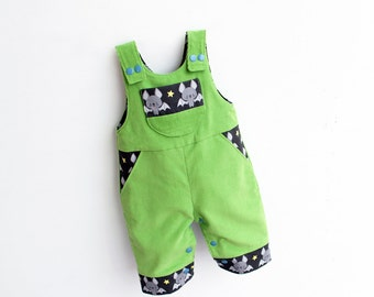 Lil CRITTERS Reversible Romper pattern Pdf sewing, Baby Romper Boy Girl,  Easy Dungaree Leg Opening, toddler newborn up to 6 yrs