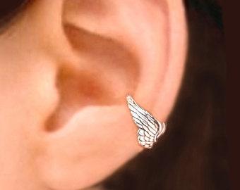 Tiny Angel wing ear cuffs Sterling Silver earrings Wing jewelry wing earrings Sterling silver ear cuff men & women jewelry handmade C173 CC