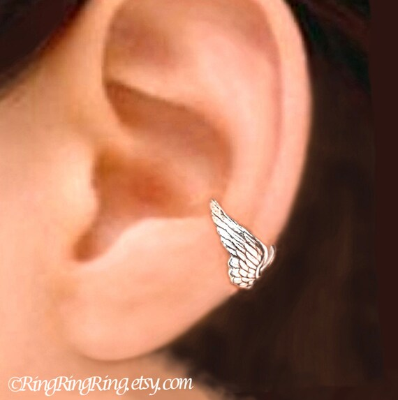 Tiny Angel Wing Earrings - Sterling Silver Uuzpd