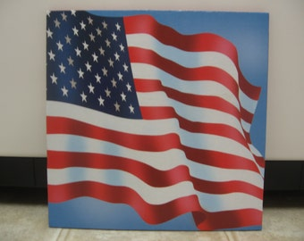Summer Decor-4th Of July Decor- Chipboard US Flag Wall Decor