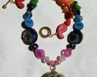 Mother Of All Mother Nature's Necklace with Bunny Locket