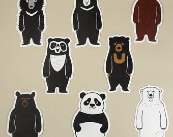Taiwan Black Bear 8 Postcard Set Collection