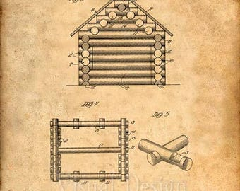 Lincoln Logs Patent Print - Patent Art Poster