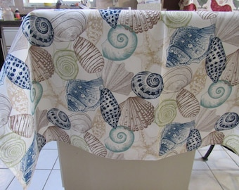 SEASHELL  Pattern,  Table  Cloth,   72 inches x  54 inches