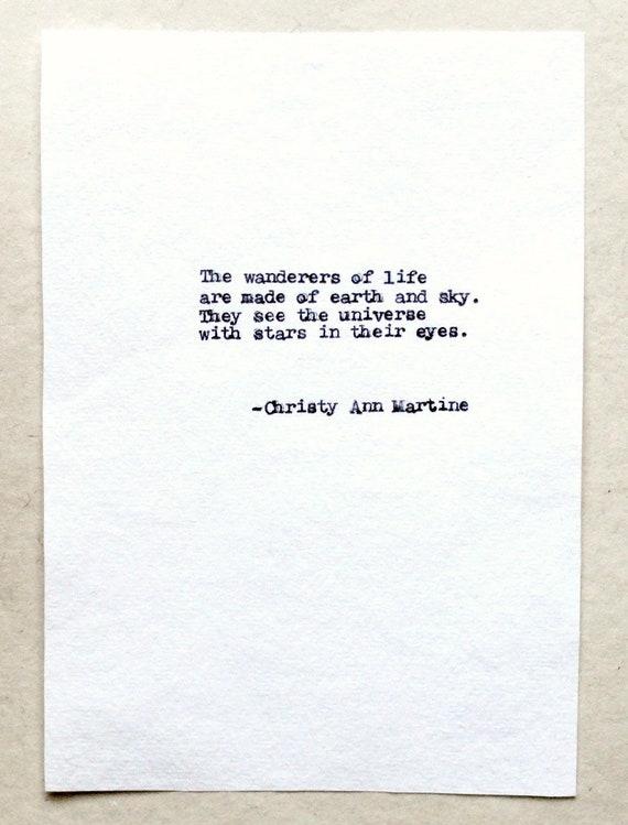 Wanderers Poem