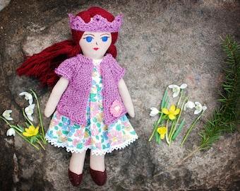 Handmade heirloom doll, rag doll,Nursery Decor, Birthday gift, Mothers day gift