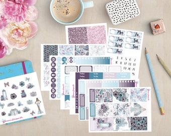 Einmal   Wöchentliche Kit Sticker   Erin Condren   Glücklich Planner