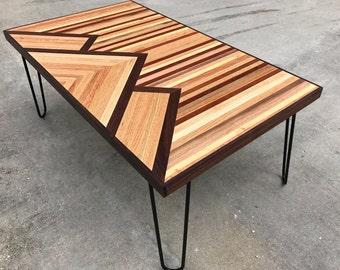 3 Mountain Reclaimed Wood Coffee Table, Industrial Table, Console Table,  Rustic Coffee Table