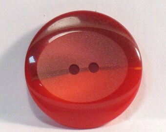 Vintage button, diam.23mm, set of 5, 2 shades of Red