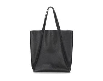 Leather tote bag, Leather bag, Black tote, Women tote, Woman tote, City bag, Woman bag, Designer tote, Designer bag, Tote, Leather tote, Bag