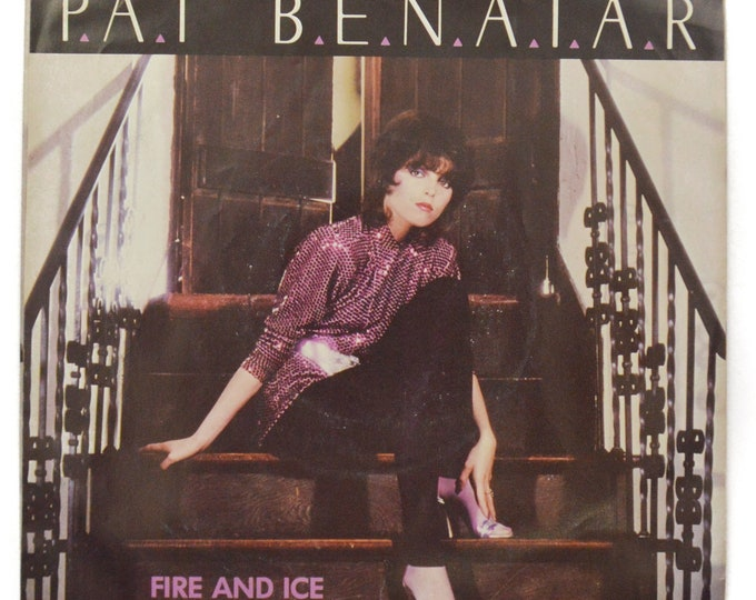 Vintage 80s Pat Benatar Fire and Ice Pop Rock Picture Sleeve 45 RPM Single Record Vinyl
