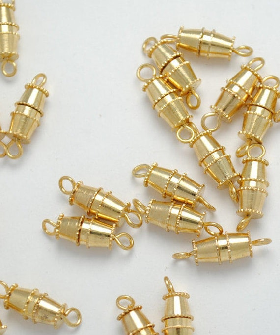 Gold - tone clasps clasps has screw - clasps has screw - clasps, jewelry - necklaces and bracelets clasps