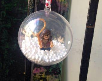 Wonder Woman Christmas Bauble Minifigure hanging xmas tree decoration