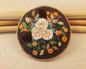 Autumn Brooch - Floral Brooch - Gift for Her - Special Gift
