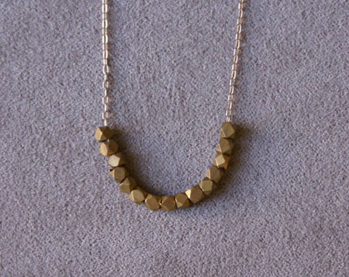 Small Brass Bead Necklace