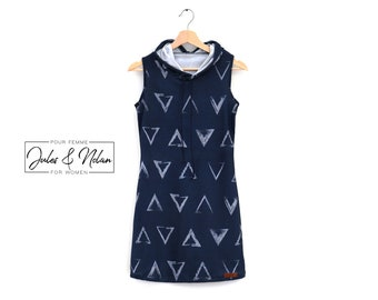 Women sport dress - summer leaves