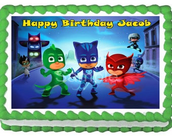 PJ MASK Image Edible cake topper party decoration