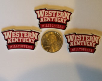 Western Kentucky University WKU Hilltoppers Toppers Resins Cabochans Hair Bows, Ponytail holders, Scrapbooking, etc.