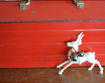 Vintage Red Tool Box with Tray